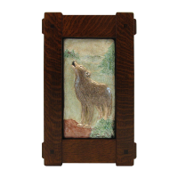 Stickley Craftsman Style Thru Tenon Frame with Wolf Tile - TFT3322